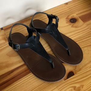 Mission black sandals